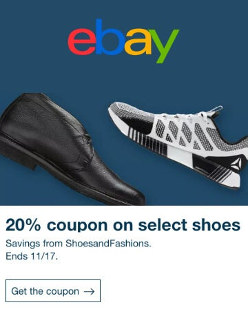 eBay 20% off promo code on select shoes
