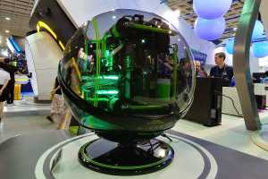In Win's Winbot is a wild, bubble-like PC built to take robotic selfies