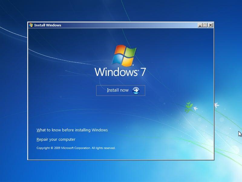 8.1 reinstalling windows 7