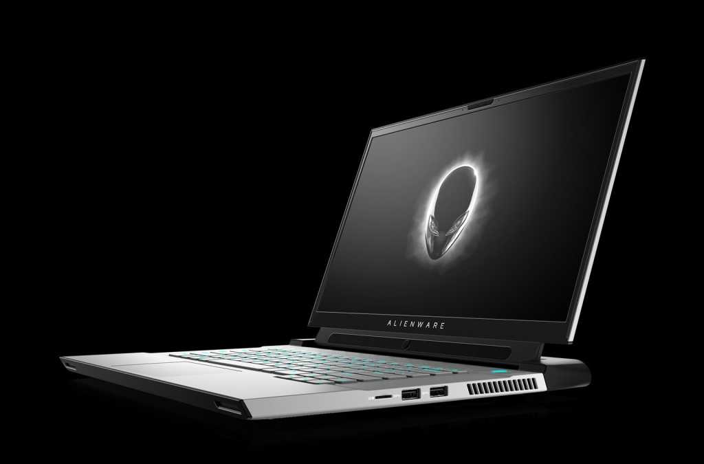 alienware m15 r4 white with tobii faced left