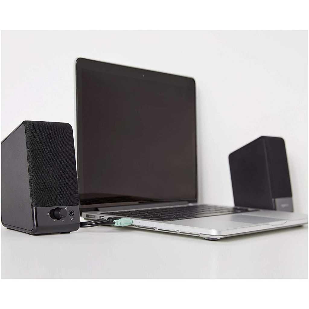 amazonbasics computer speakers with laptop