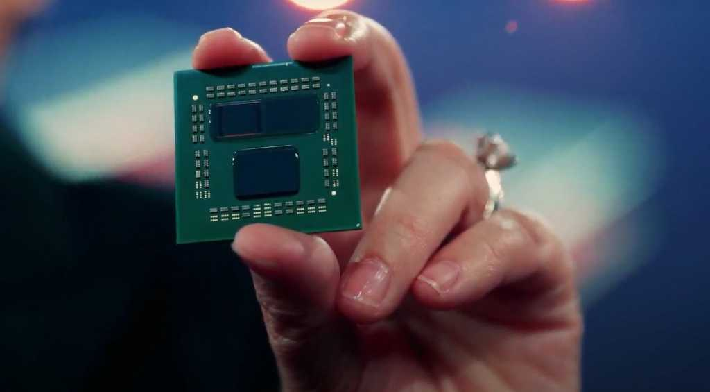 amd computex 2021 3d v cache up close chip
