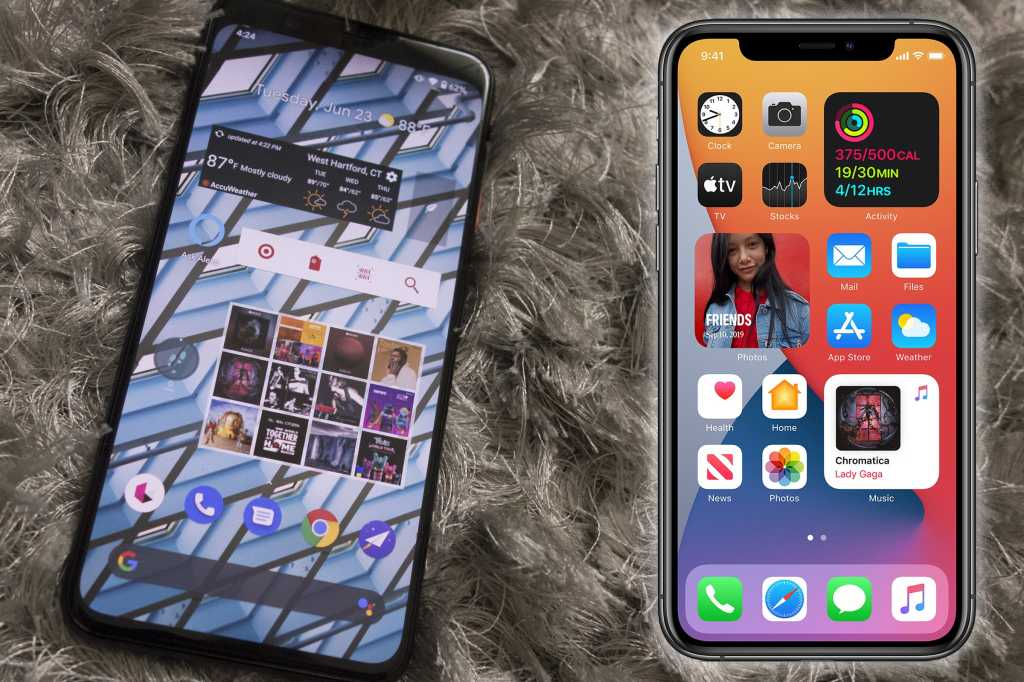 android vs ios widgets