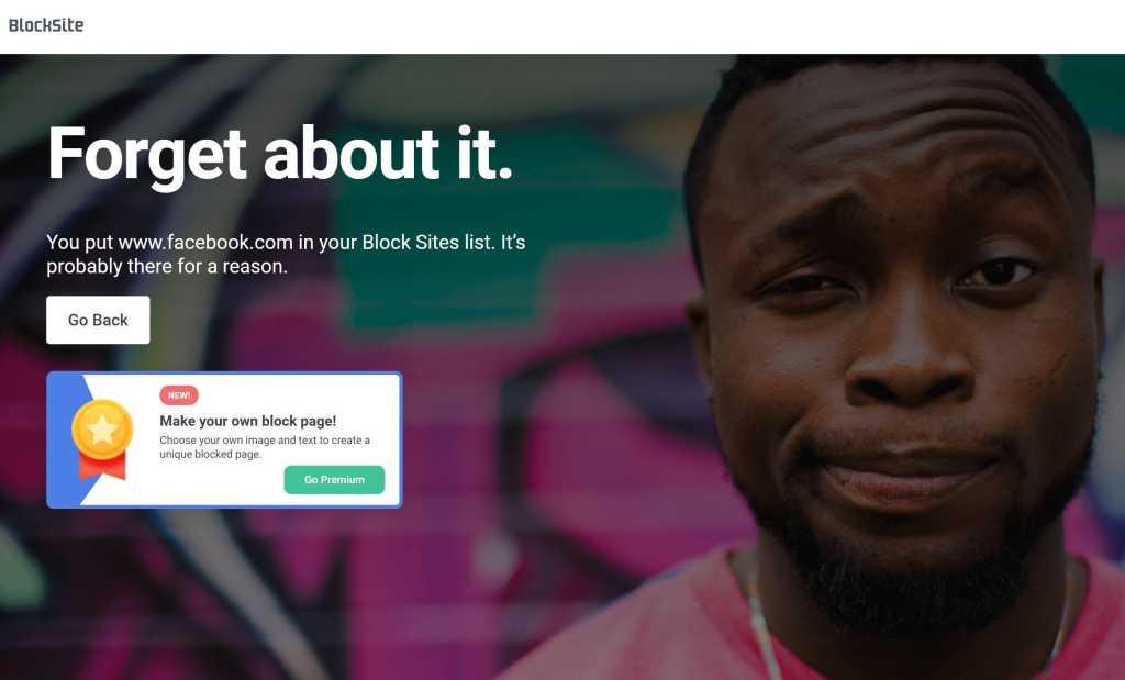 blocksite block page