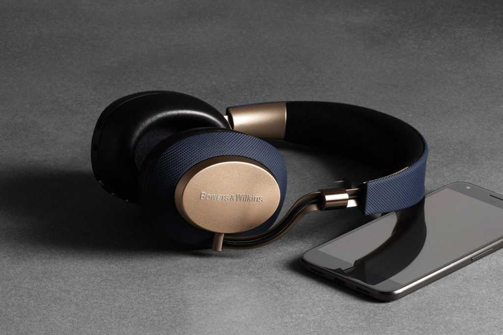 B&W PX wireless noise-cancelling headphones with phone