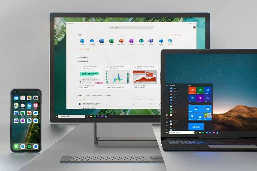Microsoft > Office 365 > Desktop / mobile (laptop, smartphone)