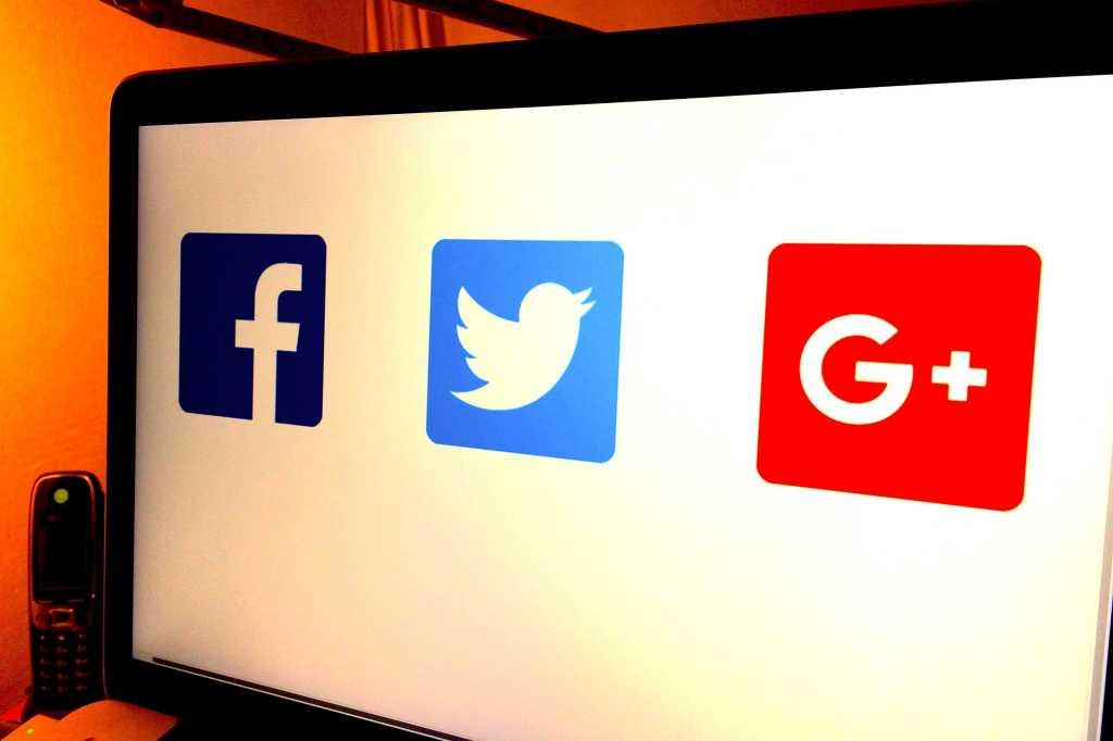 facebook twitter google plus social media logos