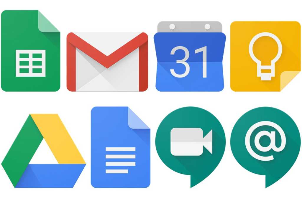 g suite app logos
