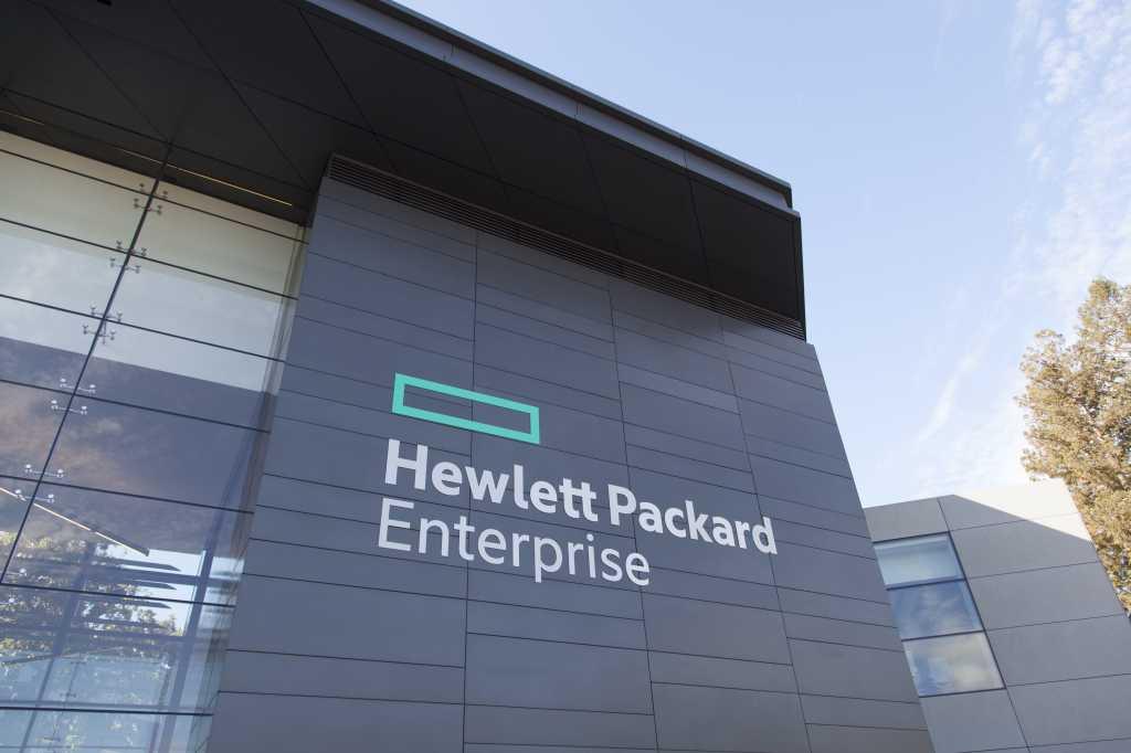 HP Hewlett Packard Enterprise new signs