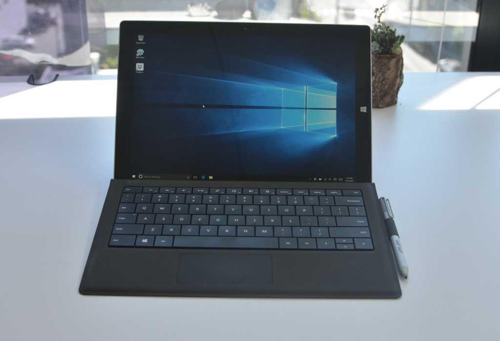 A Surface Pro 3 running Windows 10