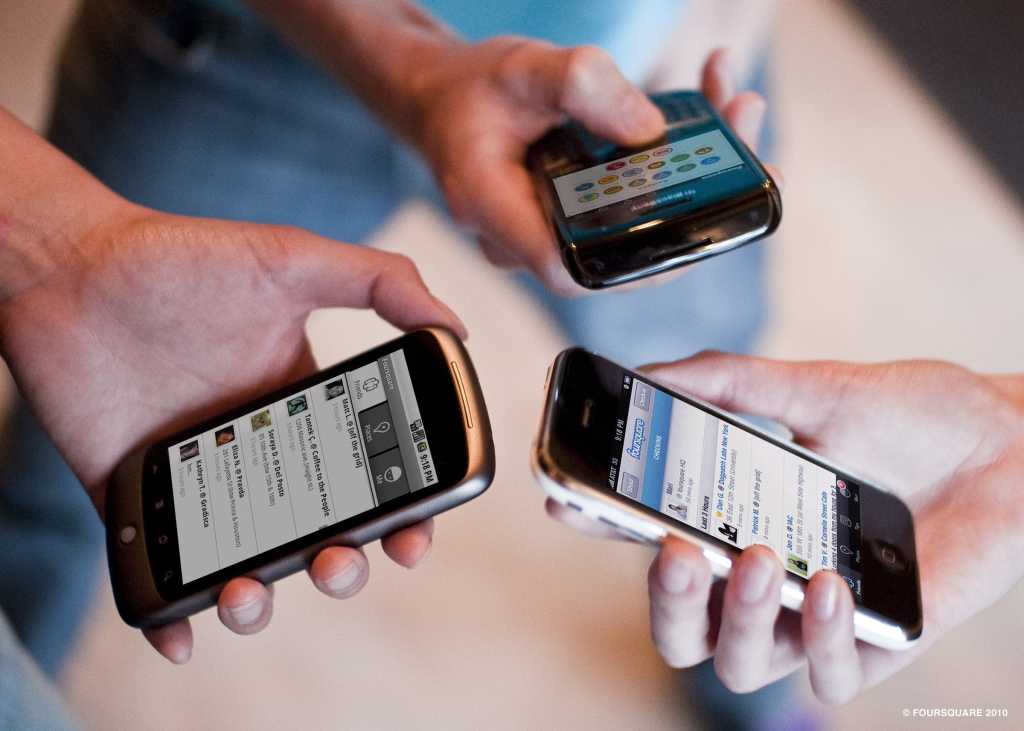 Three cellphones