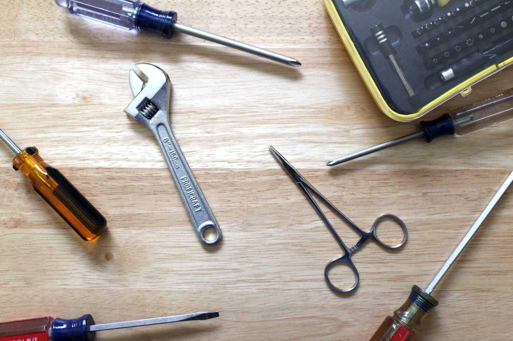 Assortment of PC building tools