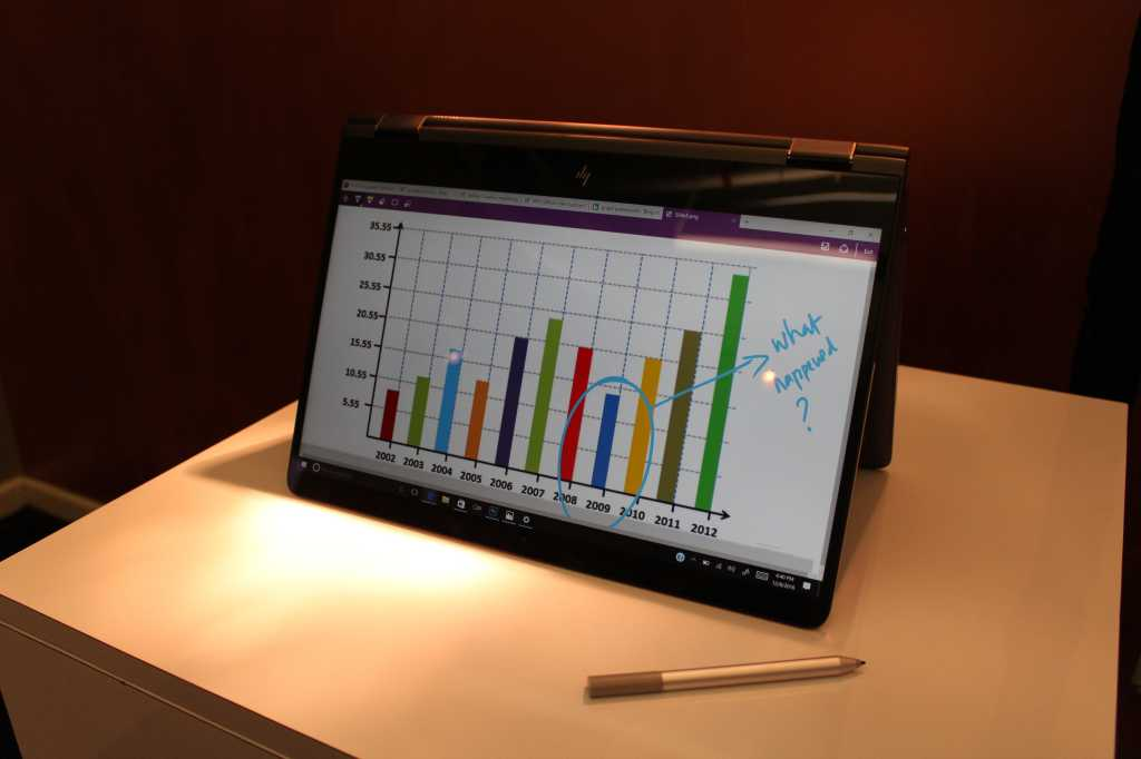 HP Spectre x360 15 2017 Front View, Tent Mode