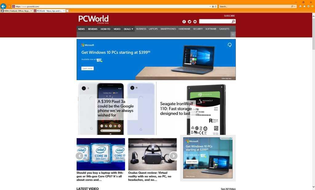 Microsoft internet explorer 2