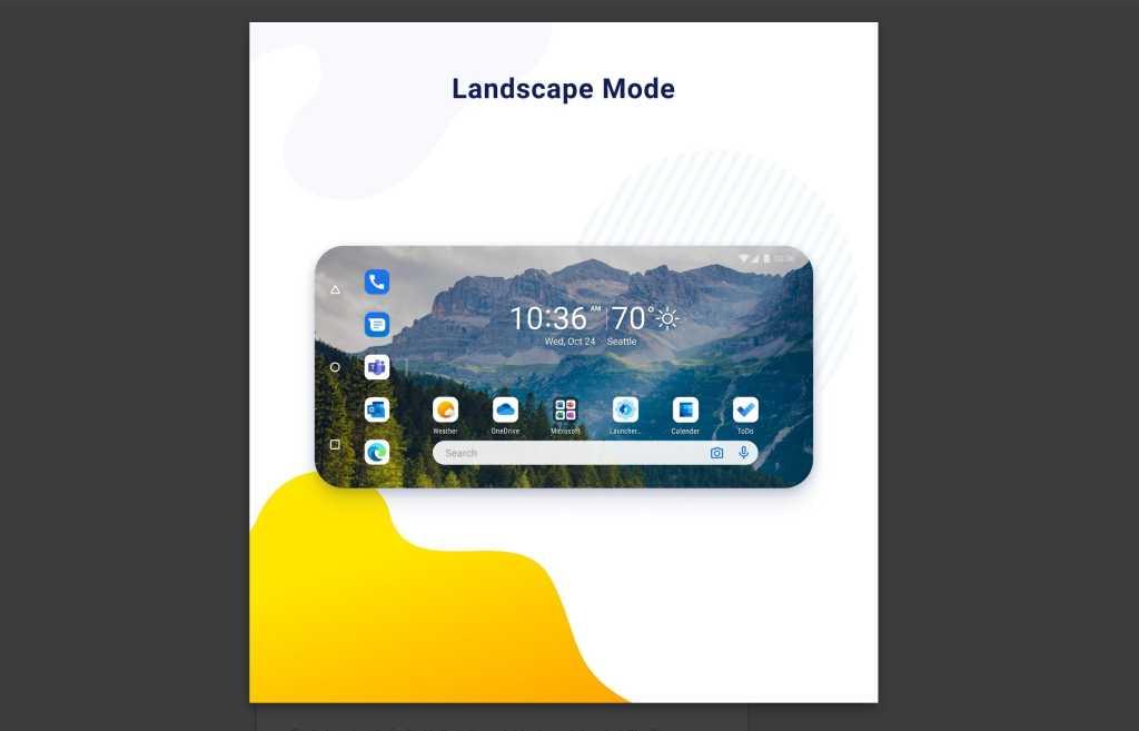 microsoft launcher preview landscape mode