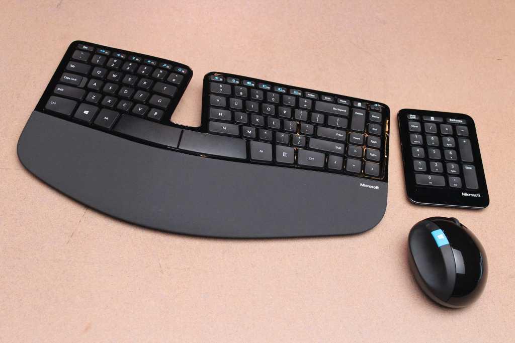 microsoft sculpt ergonomic keyboard numeric keypad mouse1