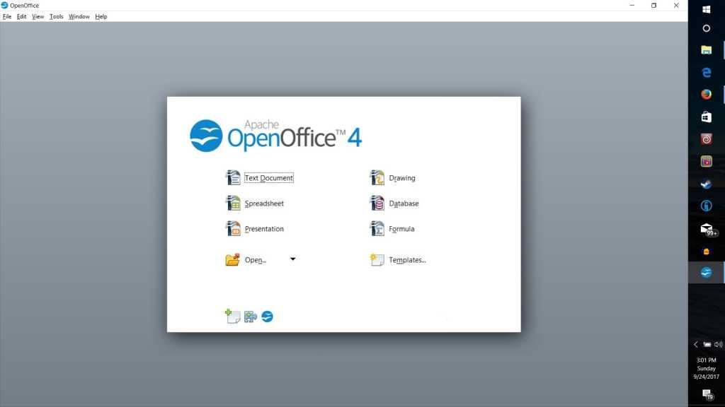 open office splash