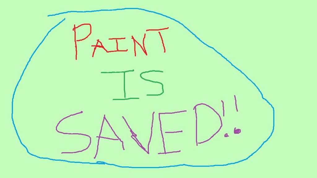 microsoft paint is saved