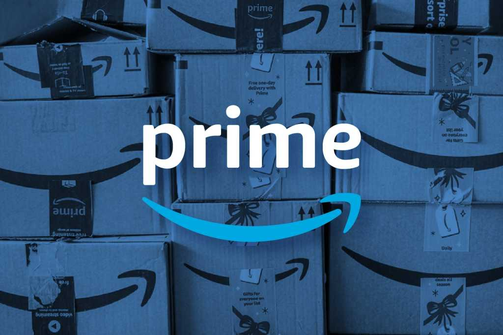 Amazon Prime Logo on a blue background