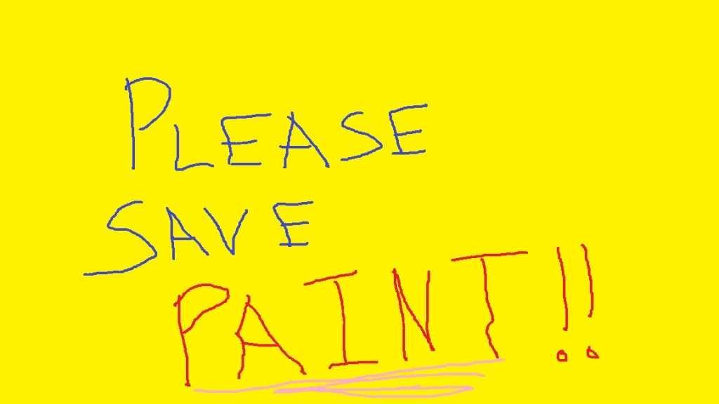 please save microsoft paint