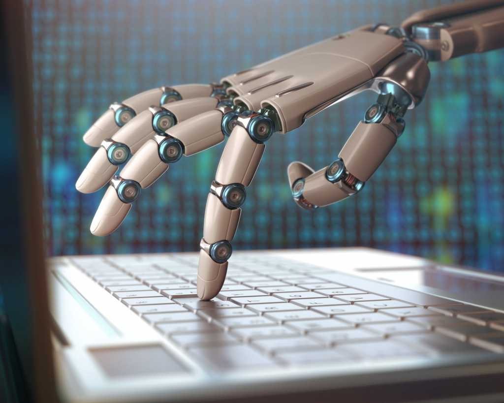 robot arm using laptop