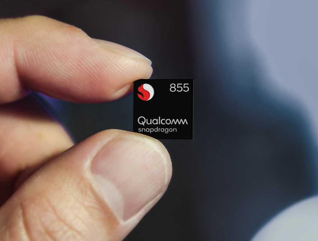 snapdragon 855 mobile platform chip front 2