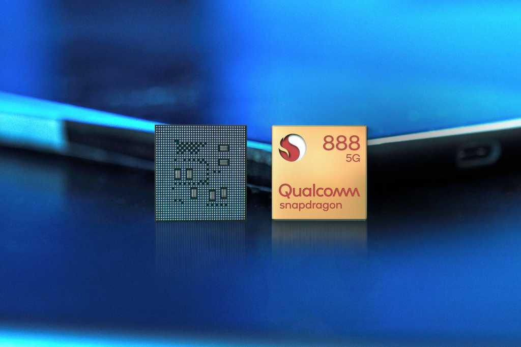 Qualcomm snapdragon 888 front chip in studio