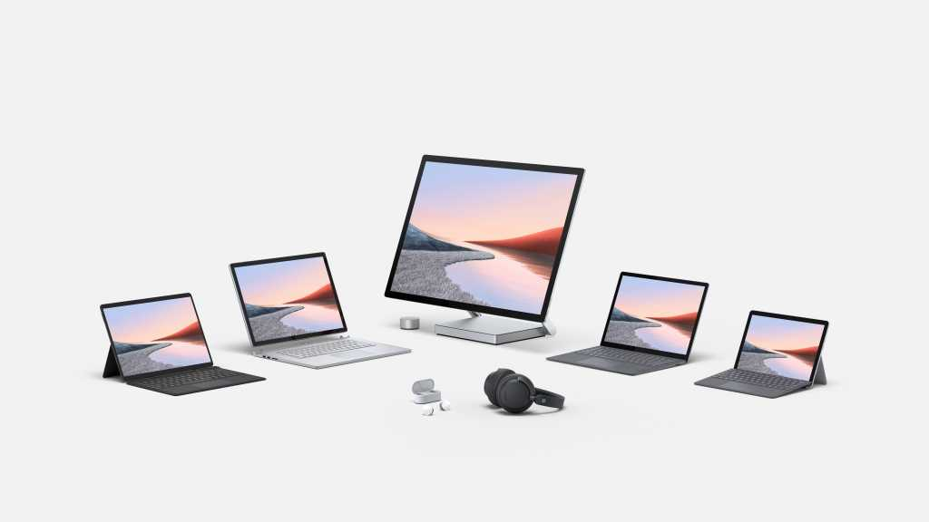 Microsoft surface family Surface Go 2 Surface Book 3 Surface Dock 2 Surface Headphones Earbuds