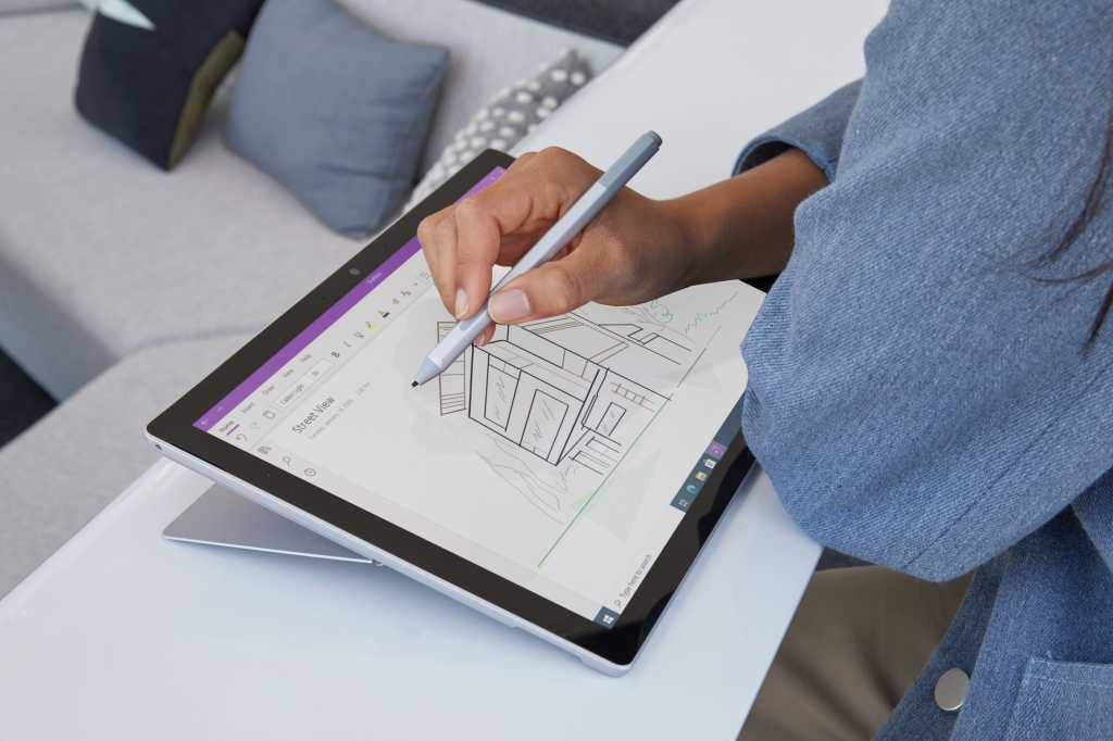 Microsoft surface pro 7+ drawing