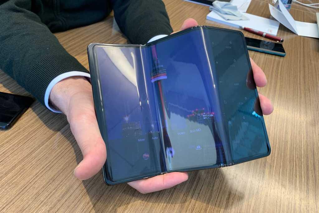 tcl tri fold display