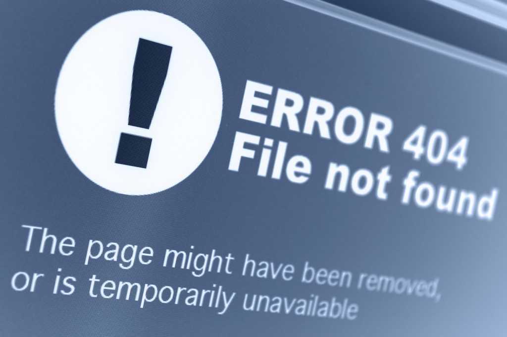 error 404 web browser