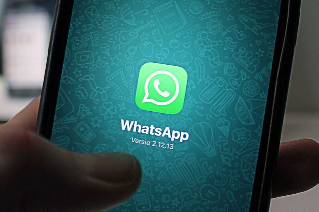 WhatsApp secure messaging on a mobile phone