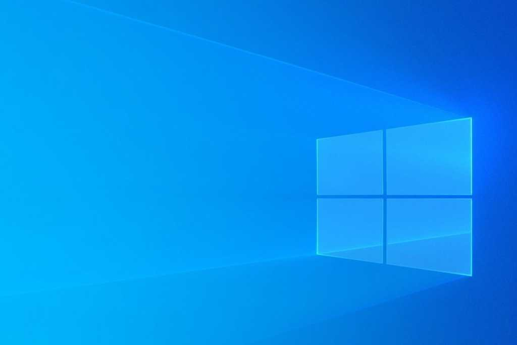 windows 10 logo onscreen