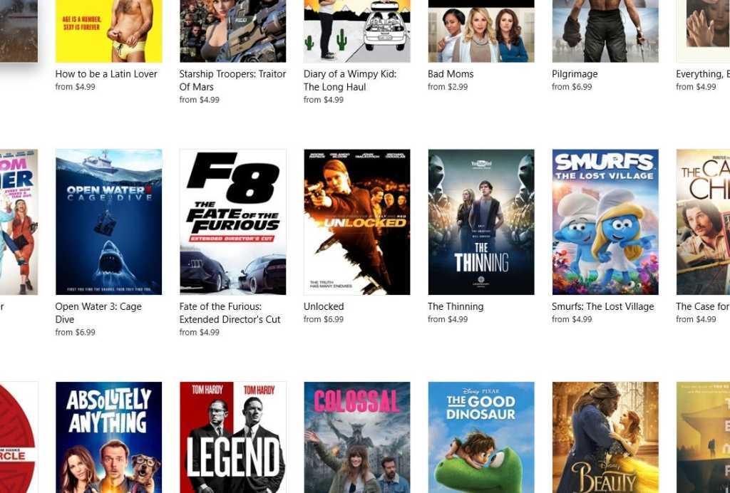 windows store movies