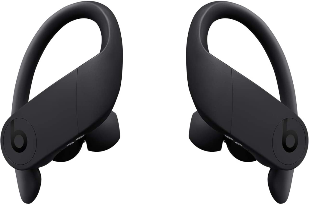 The Powerbeats Pro true wireless earbuds on a white background.