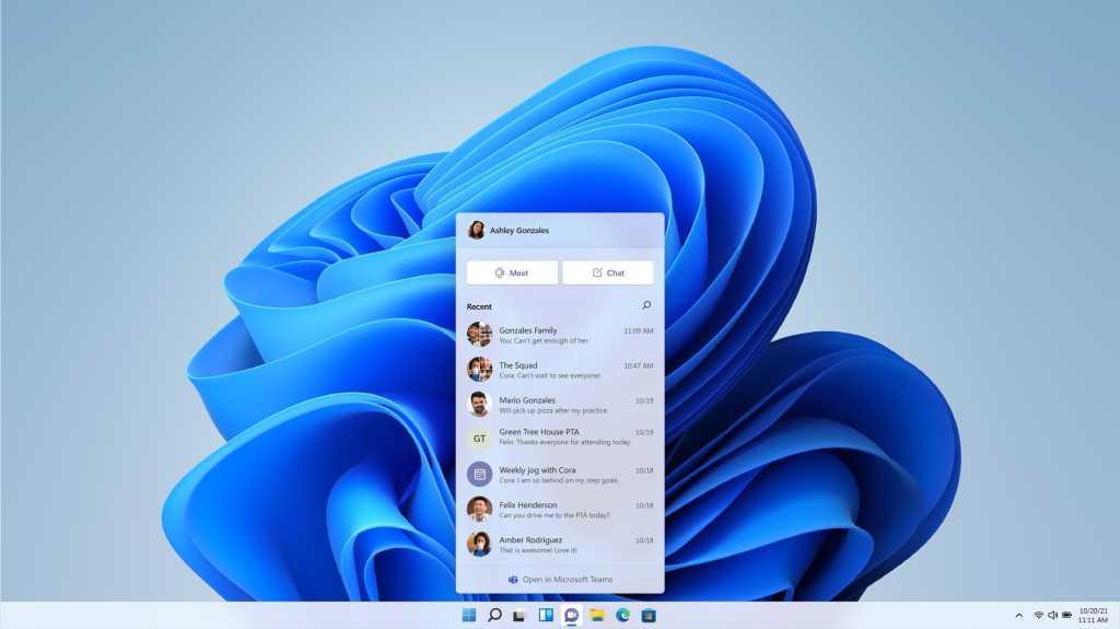 Windows 11 Teams Chat