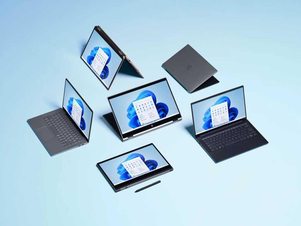 Various Windows 11 laptops